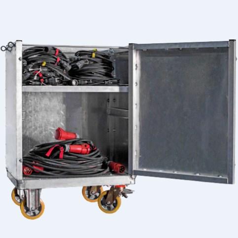 AFC 10 – Τετράτροχη πλατφόρμα αλουμινίου για μεταφορά καλωδίων ή εξαρτημάτων