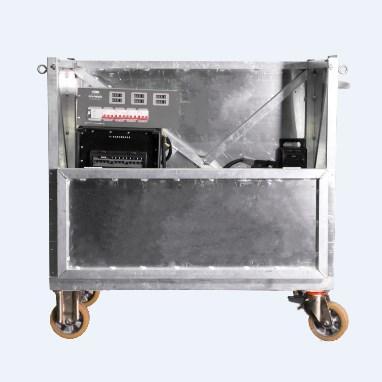 Τετράτροχη πλατφόρμα αλουμινίου για μεταφορά πανιών ή βαρέων συσκευών