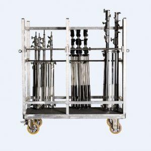 AFC 30 - Τετράτροχη πλατφόρμα αλουμινίου για μεταφορά Τρίποδων