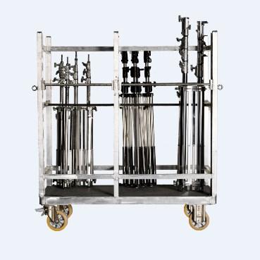 AFC 30 – Τετράτροχη πλατφόρμα αλουμινίου για μεταφορά Τρίποδων