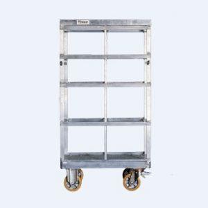 AFC 40 - Τετράτροχη πλατφόρμα αλουμινίου με συρταριέρα (8 συρτάρια) για μεταφορά των αξεσουάρ