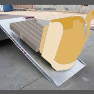 Ράμπα Αλουμινίου - MPCP ικανότητα φόρτωσης έως 2000kg