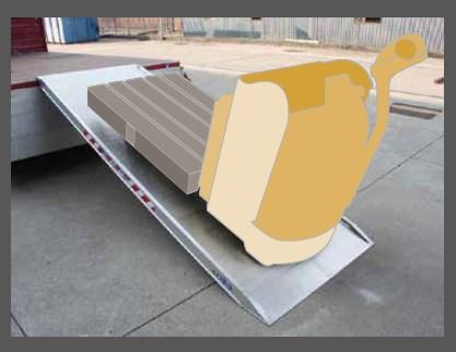 Ράμπα Αλουμινίου – MPCP ικανότητα φόρτωσης 2000kg