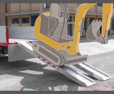 Ράμπα Αλουμινίου – M070-M125 series ικανότητα φόρτωσης έως 4500kg