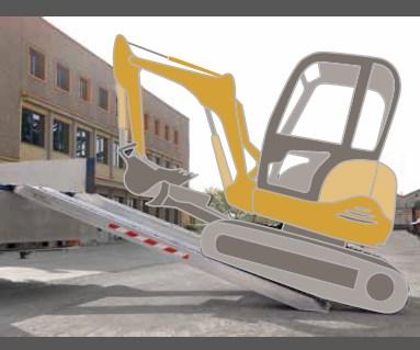 Ράμπα Αλουμινίου – M140 / 150 ικανότητα φόρτωσης έως 6000kg